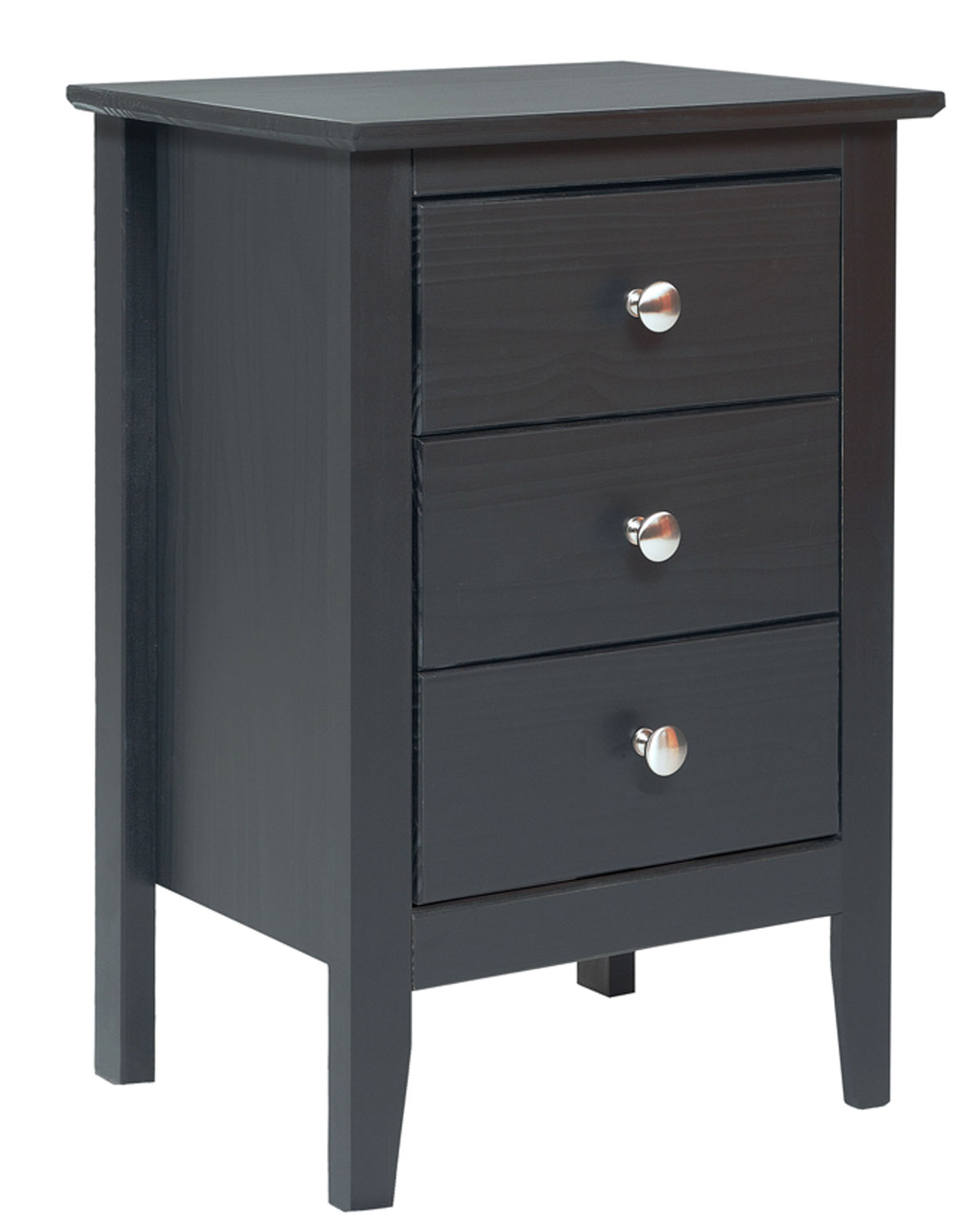 Easy pieces espresso 3 drawer end table nightstand for 12 inch depth dresser