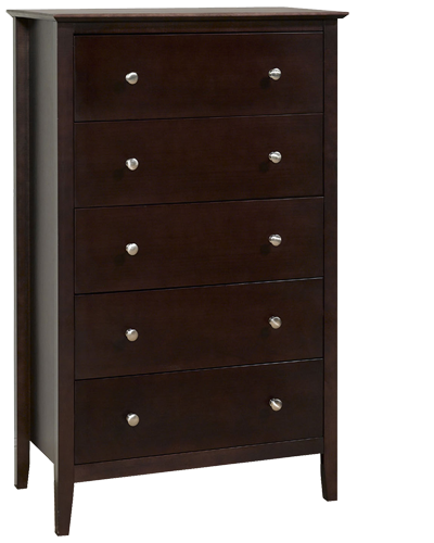 EASY PIECES ESPRESSO- 5 DRAWER CHEST